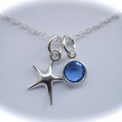 Sterling Silver Starfish and Colour..
