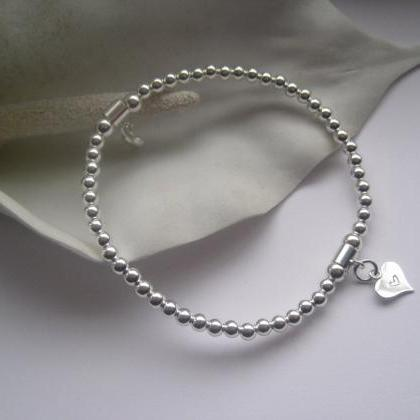Bridesmaid Sterling Silver puffed h..