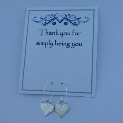 Sterling Silver Hand Stamped Heart ..