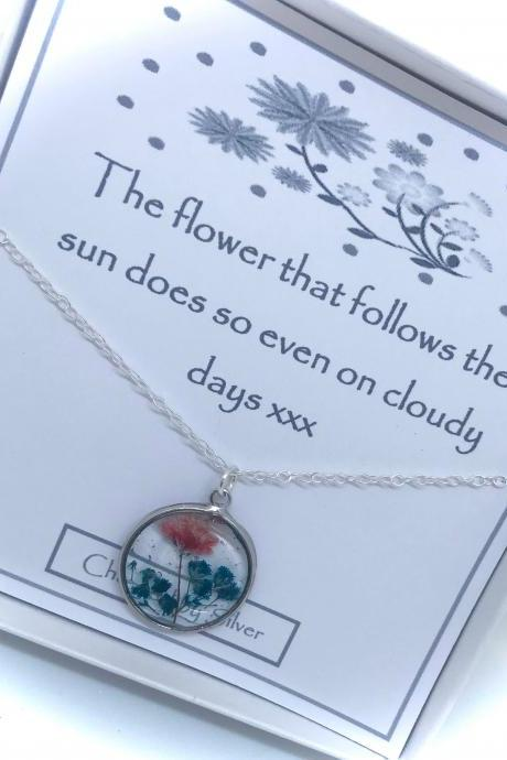 A Scent of Summer - a Sterling silver flower necklace