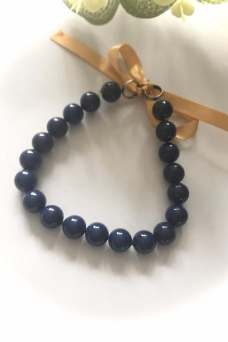 SALE - Beautiful ceramic navy blue bracelet