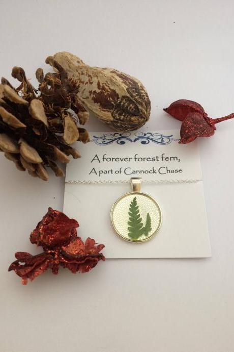 Memories of forest ferns - 'A forever forest fern, A part of Cannock Chase - Memory Necklace
