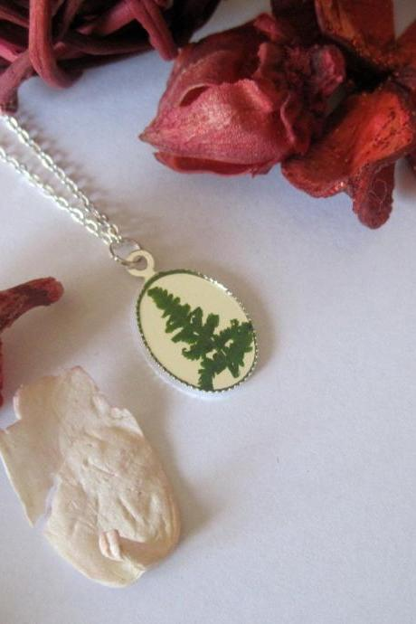 Memories of Cannock Chase 'A forever forest fern' Leaf Memory Necklace