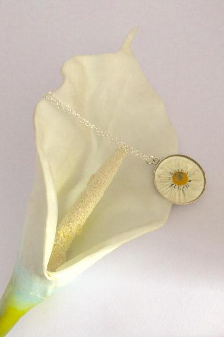 A 'choose your own flower' Sterling Silver Necklace - simply send a flower to perserve in a necklace