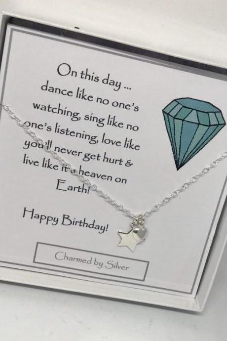 A birthday gift - A Sterling Silver Heart & Star Necklace
